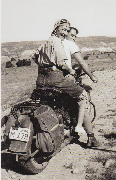 O'Keeffe on a Harley